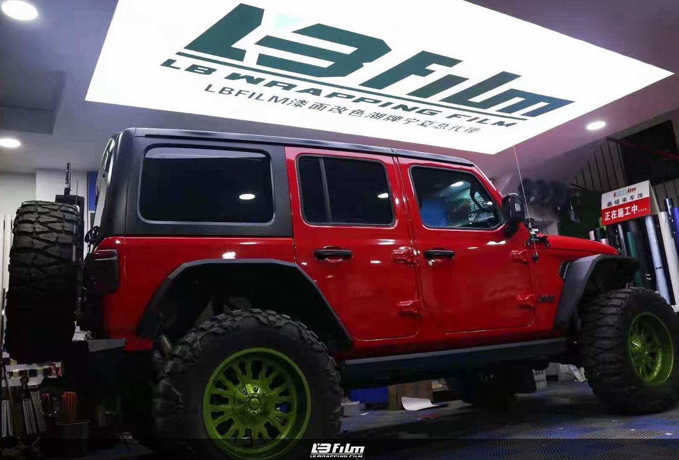 jeep高亮胭脂红